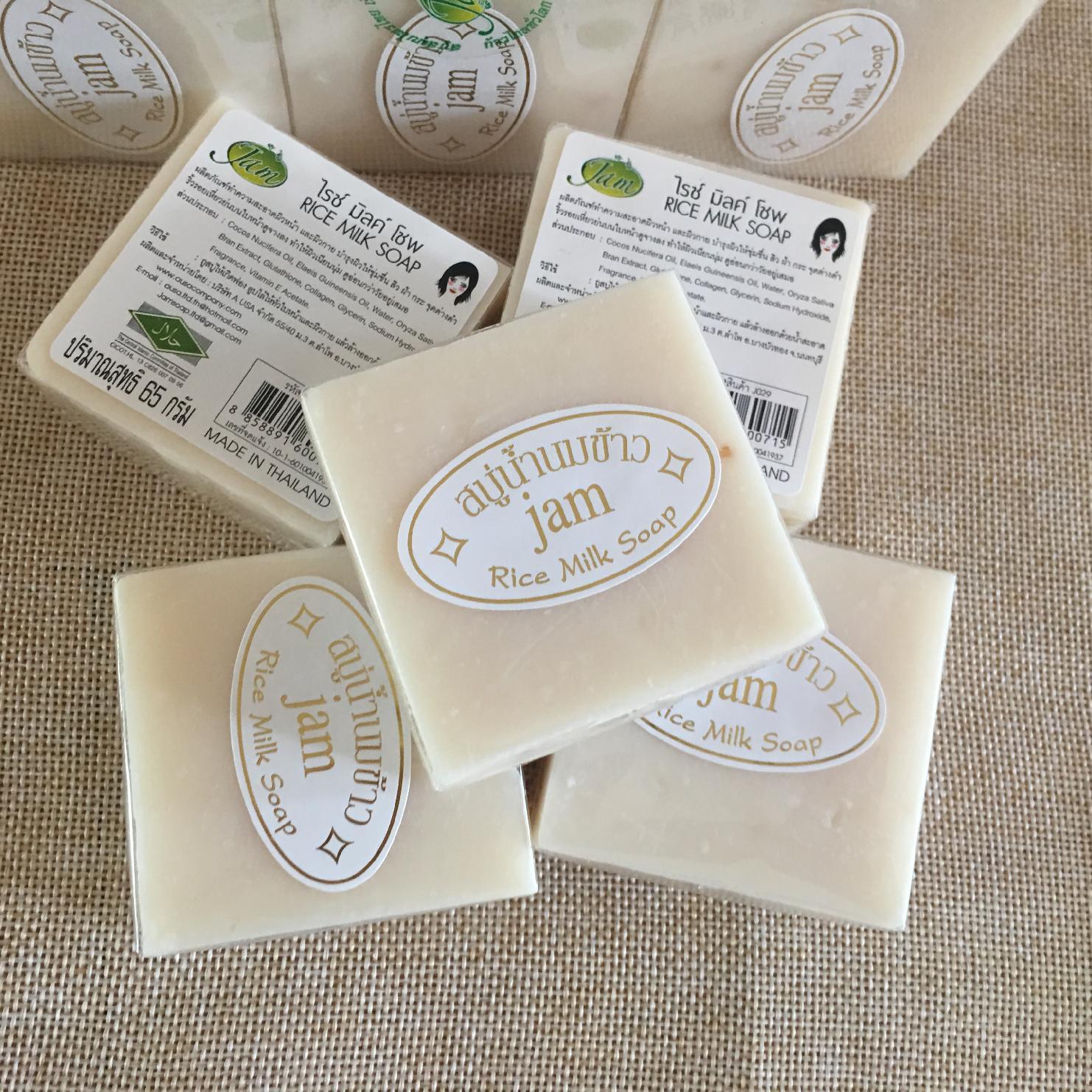 泰国原装进口JAM牌香米皂本土手工天然正品大米洁面皂香皂冷制皂