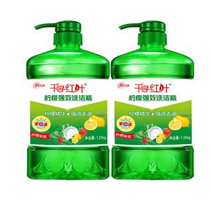 新柠檬洗洁精餐具果蔬净家庭实惠装厨房家用1.25kg瓶装食品级去油