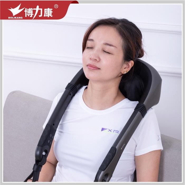 博力康肩颈椎按摩器奢华智能仿人手揉捏加热电动背部腰部家用老人