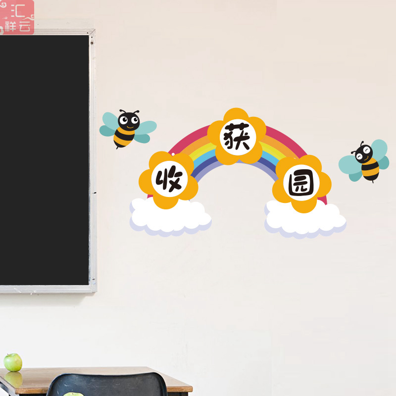 班级荣誉墙卫生角公告评比栏小学教室文化建设幼儿园墙面装饰贴纸 No.2