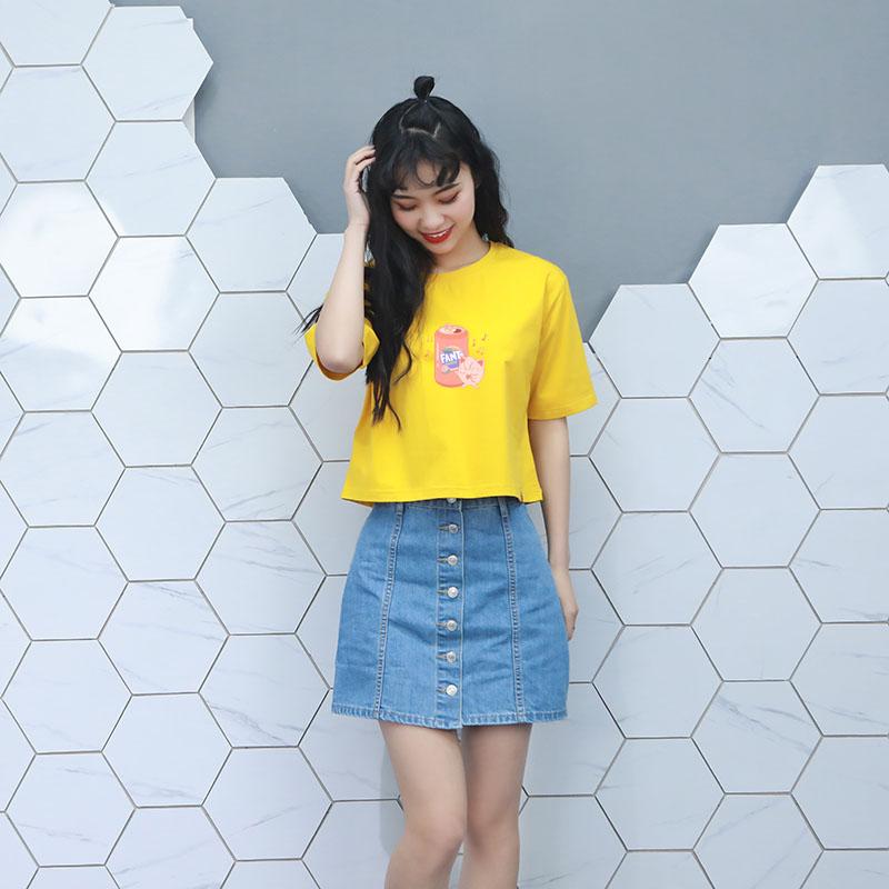 纯棉T恤女短袖韩版宽松圆领