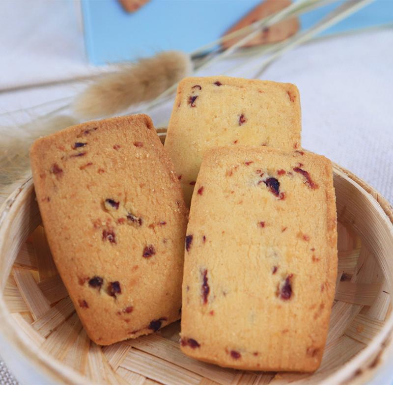 扇雀饴丹麦曲奇饼干72g办公室休闲零食可待蔓越莓糕点心送礼盒装