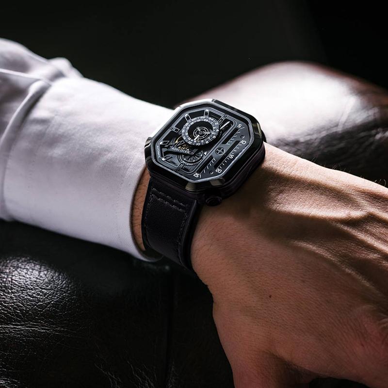 2020 新款瑞士名牌霸气方形潮男表 艾戈勒官方机械手表男士全自动