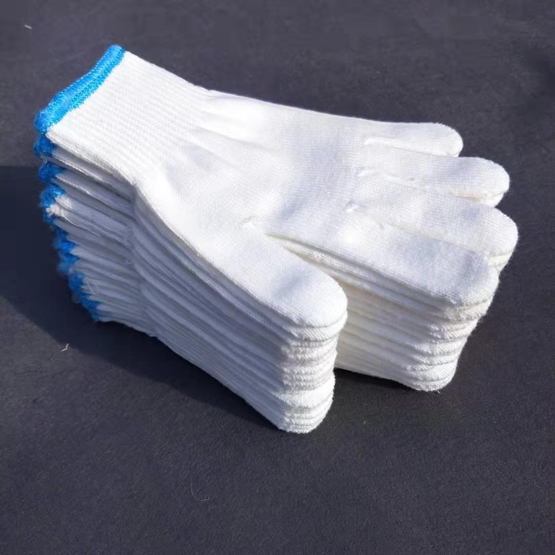 線手套棉線整包加厚耐磨尼龍手套工人干活防護手套大包勞保手套