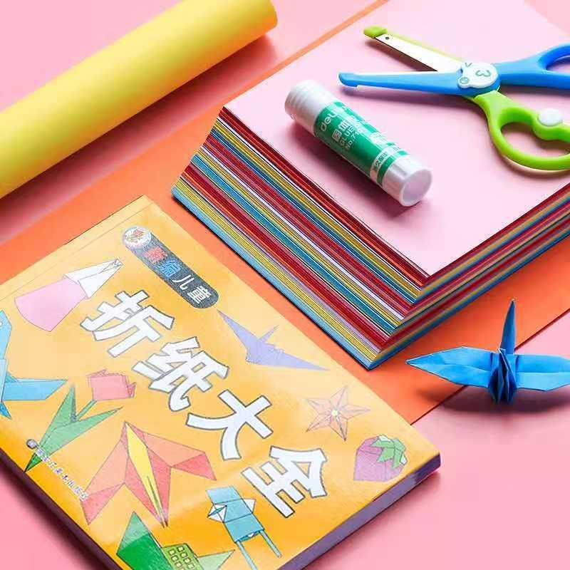 热销a4彩纸手工折纸正方形千纸鹤幼儿园
