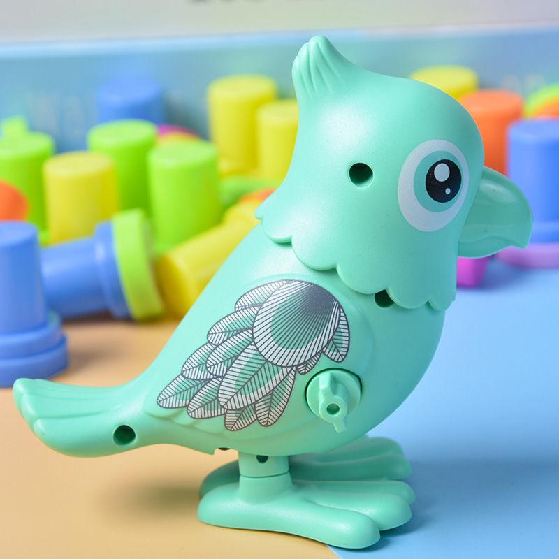 庚庚/发条鹦鹉玩具上链仿真动物