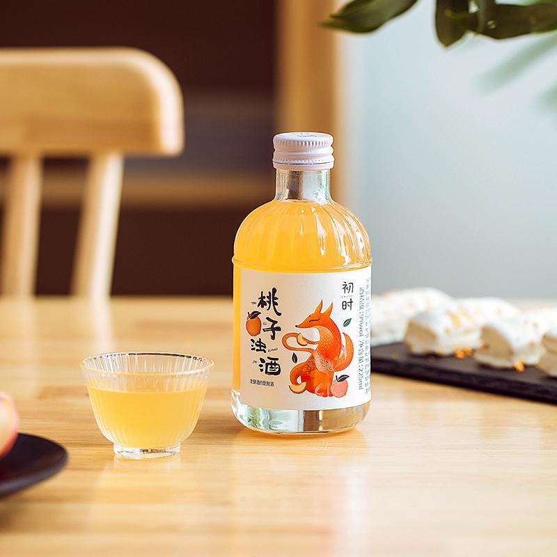 初时 纯果发酵 低度微醺水果酒 225mlx2瓶