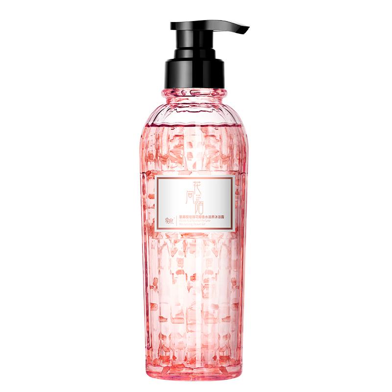氨基酸玫瑰香水型花瓣沐浴露女士持久留香正品官方品牌身体沐浴乳