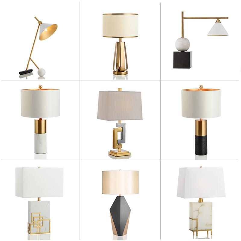 美式简约大理石台灯卧室床头后现代设计师样板房别墅客厅轻奢台灯