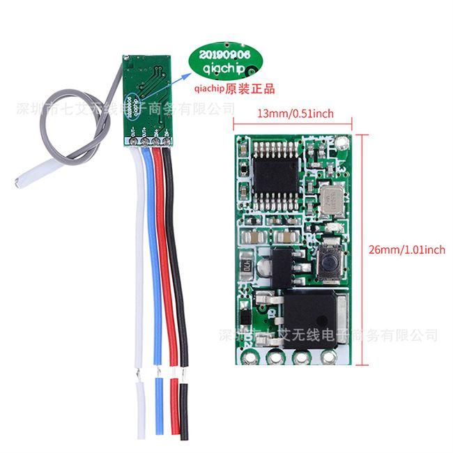 遥控无线开关5v12v24电源超外差微型模块接收电池led灯条控制通断