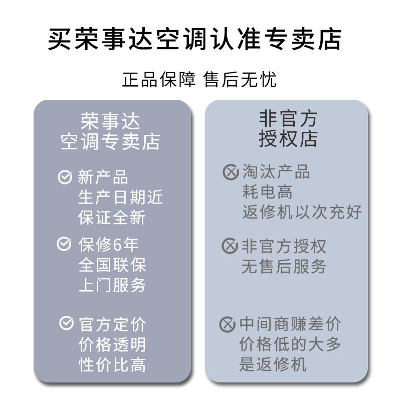 【专卖店】荣事达家用空调挂机1p大1.5匹单冷暖壁挂 定频节能空调