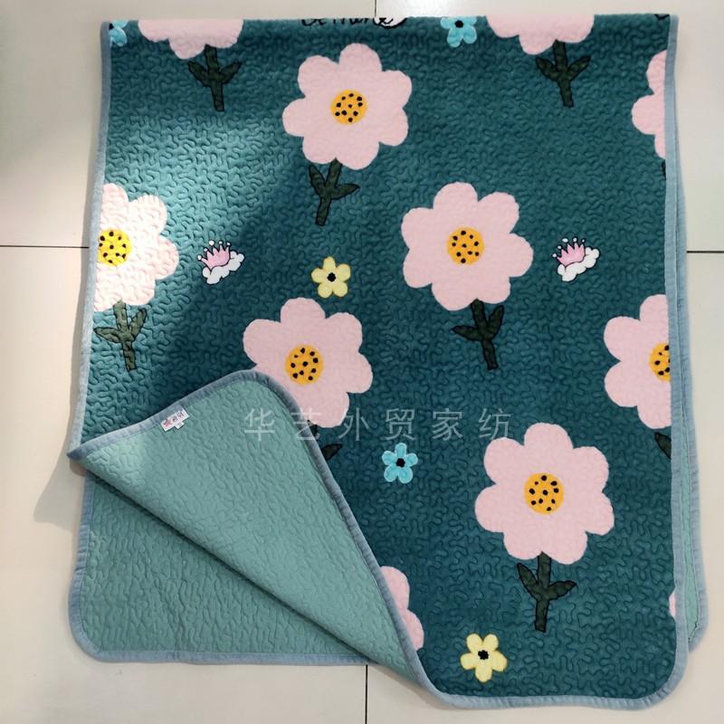 夹棉床单学生冬褥子 200 90 水晶绒单人毯子一面纯棉一面法兰绒床盖