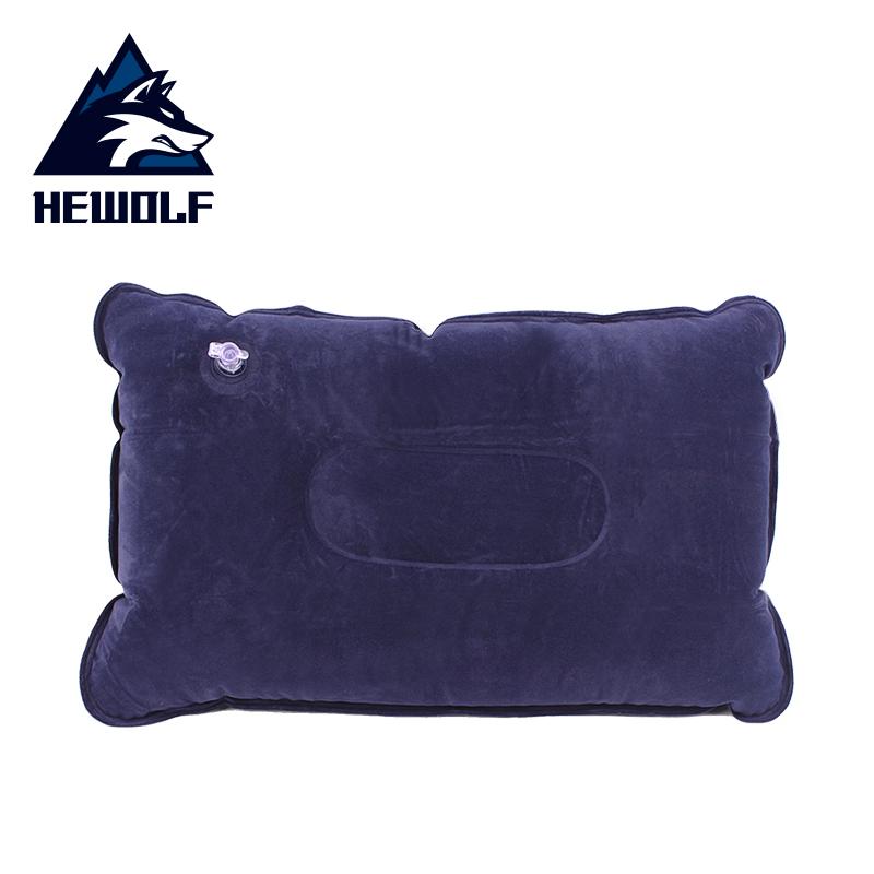 戶外充氣枕頭超輕方形睡枕靠枕旅行便攜枕摺疊植絨頸枕護頸吹氣枕