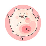 Mouse pad Guochao mouse hand wrist small fresh high sensitive super large gaming table pad female game office thickened large keyboard pad pig personality creative cute girl anime trumpet thickened