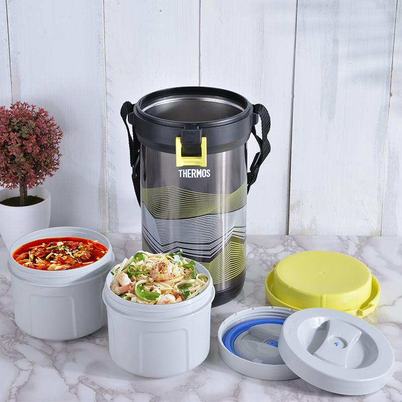 膳魔師不鏽鋼保溫桶 FHK-2200大容量 日式學生 保溫便當飯盒 兩層