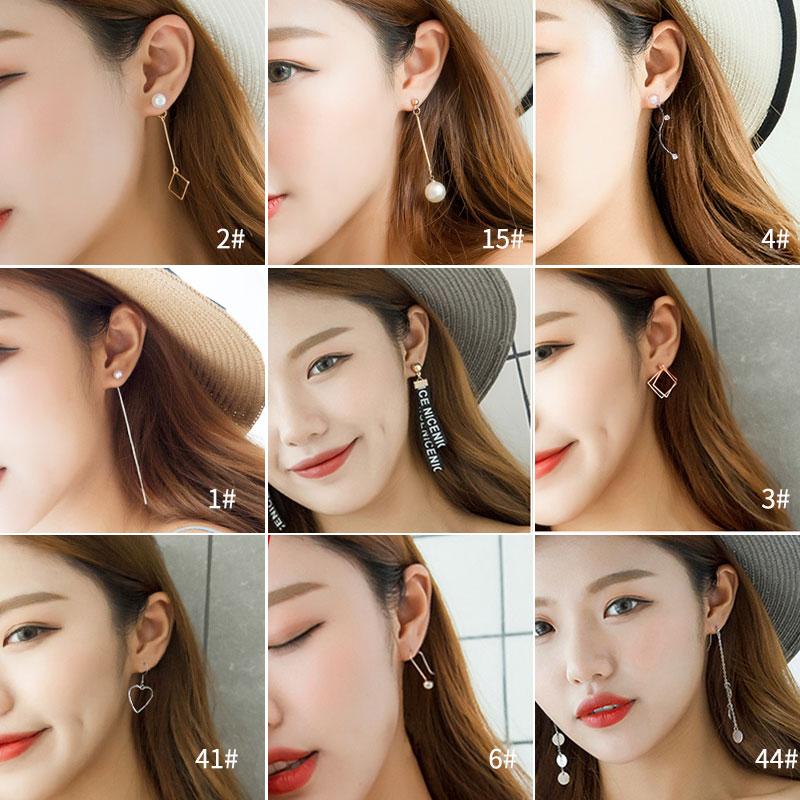 耳环女韩国高级感耳钉2019新款潮简约小巧耳坠长款气质网红耳饰