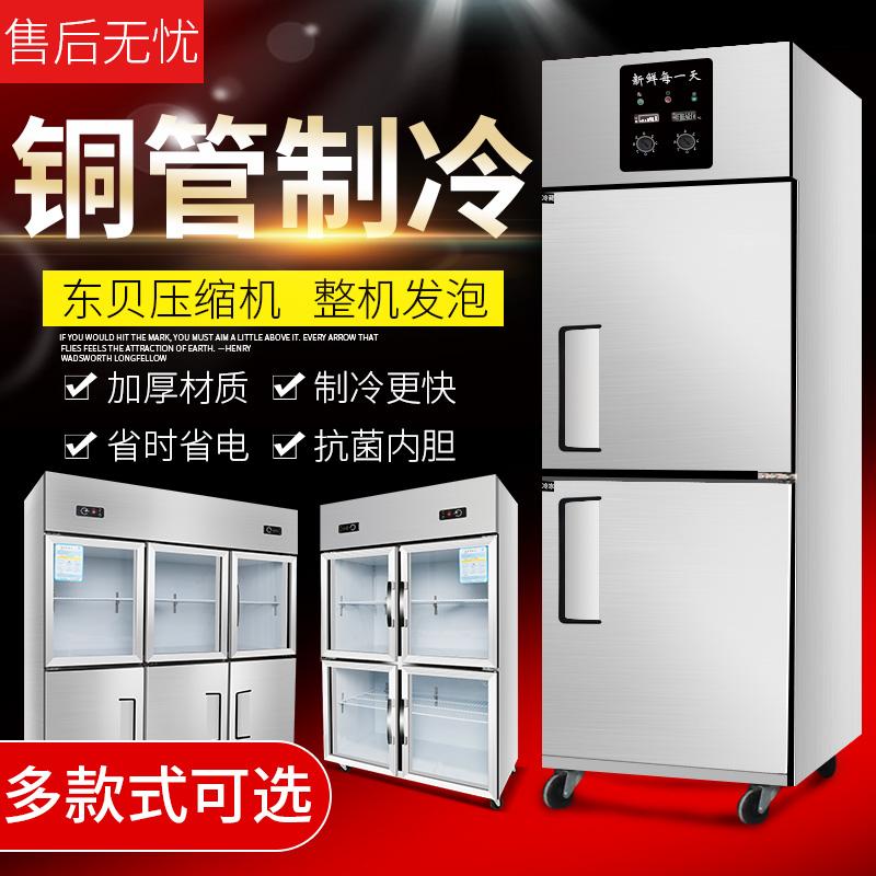 双门大容量四门冰箱商用展示柜六门冷柜厨房冰柜饮料冷藏柜冷冻柜