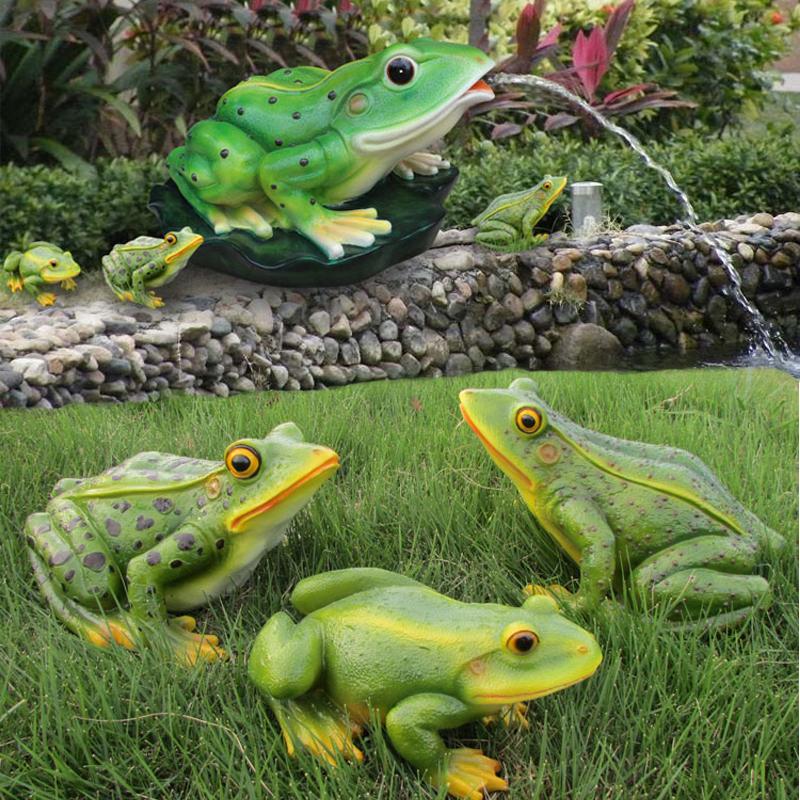 噴水模擬青蛙擺件工藝品戶外水池園林庭院裝飾動物景觀雕塑擺設