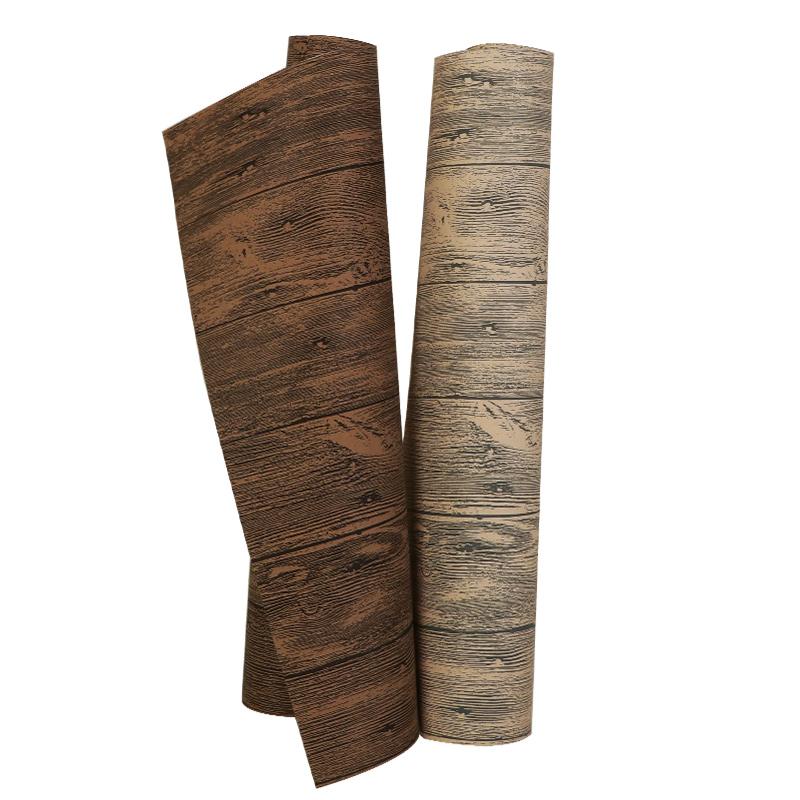 复古怀旧3D仿古木板仿木纹墙纸背景墙餐厅酒吧饭店奶茶店壁纸仿木