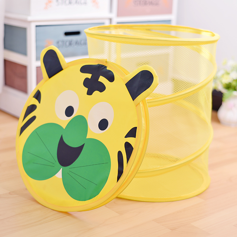 儿童毛绒玩具收纳筐神器折叠装脏衣服宝宝玩偶公仔娃娃收纳桶箱篮