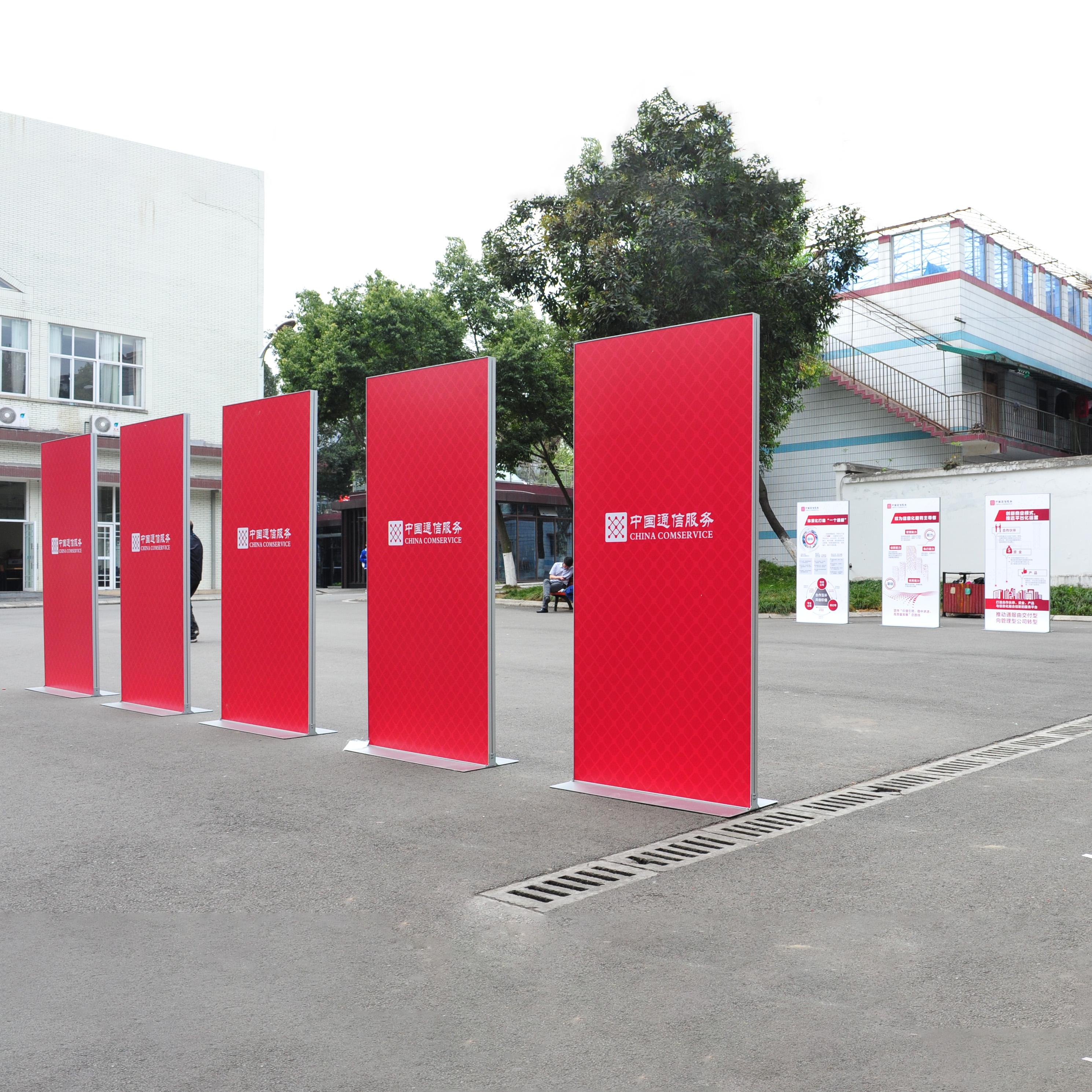 丽屏展示架门型展架KT板架铝合金广告展示架立牌 快展展架海报架