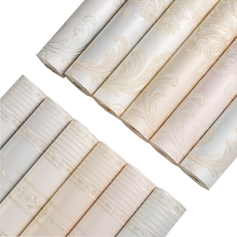 薇澜欧式墙纸3d无纺布壁纸客厅卧室浮雕墙纸电视背景壁纸现代简约