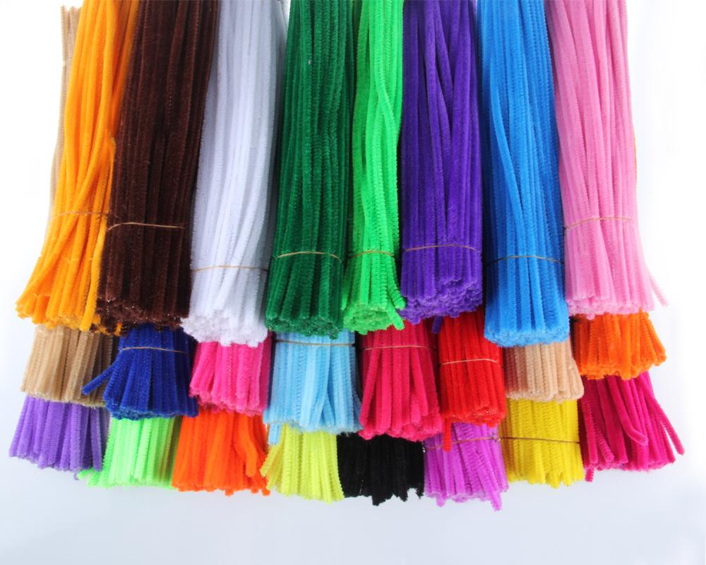 毛根扭扭棒彩色毛条幼儿园益智儿童手工diy制作材料100根/捆