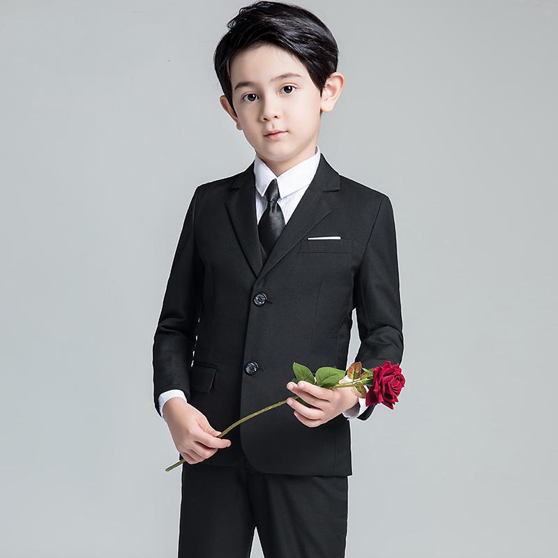 儿童礼服男童马甲套装结婚花童礼服钢琴主持人模特走秀演出服西装