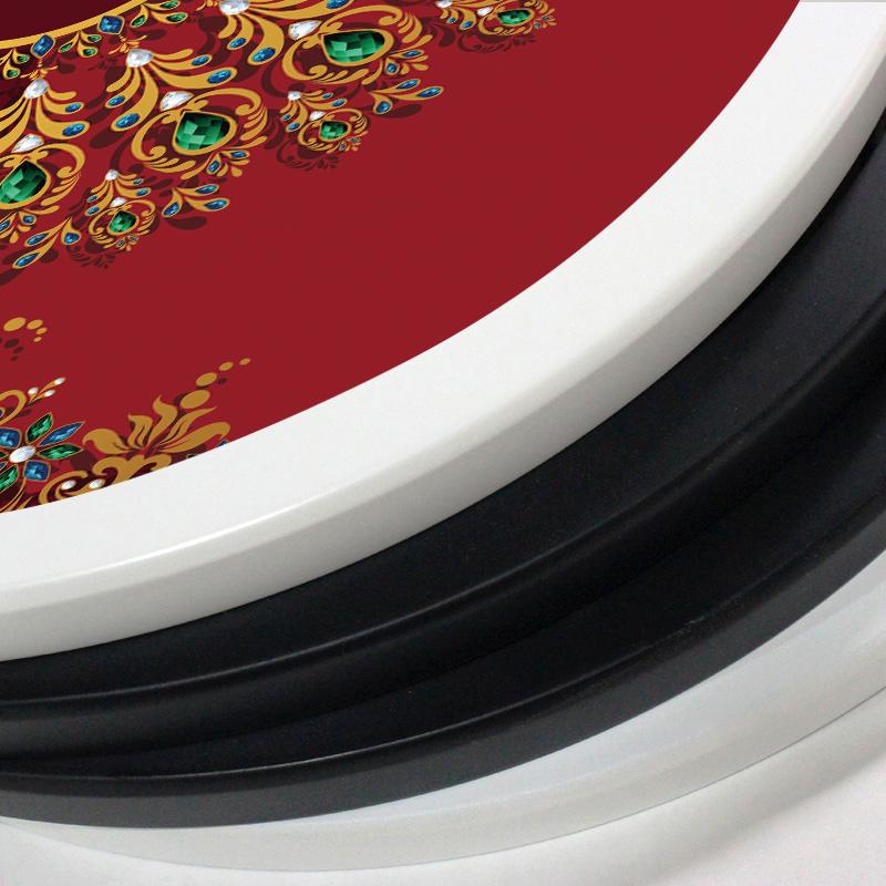 中式招財圓形玄關走廊過道裝飾畫豎版富貴孔雀裝飾畫入戶客廳掛畫
