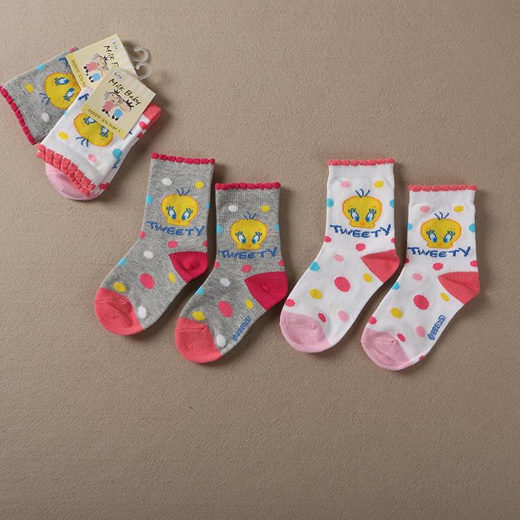 春秋款女童寶寶兒童棉襪中小童襪子短襪-Z