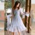 星星亮片网纱连衣裙2019新款春款女装韩版很仙的裙子中长款纱裙女