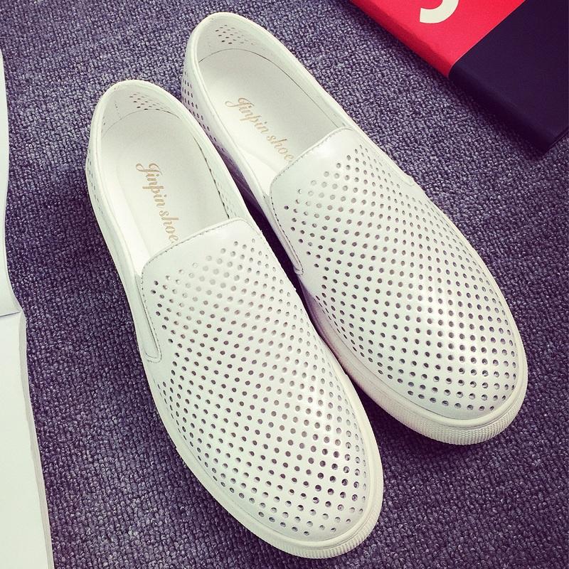 意丽尼新款韩版潮鞋镂空鞋男士休闲鞋凉皮鞋男鞋透气板鞋凉鞋子男