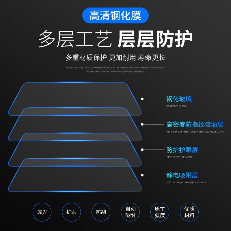 导航钢化膜仪表盘液晶显示屏幕保护贴膜 Q3Q7 Q5L A8L A4L A6L 奥迪