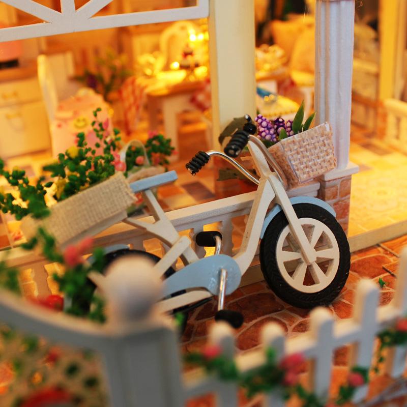 diy小屋拼装手工制作房子模型别墅天长地久男女情侣创意生日礼物
