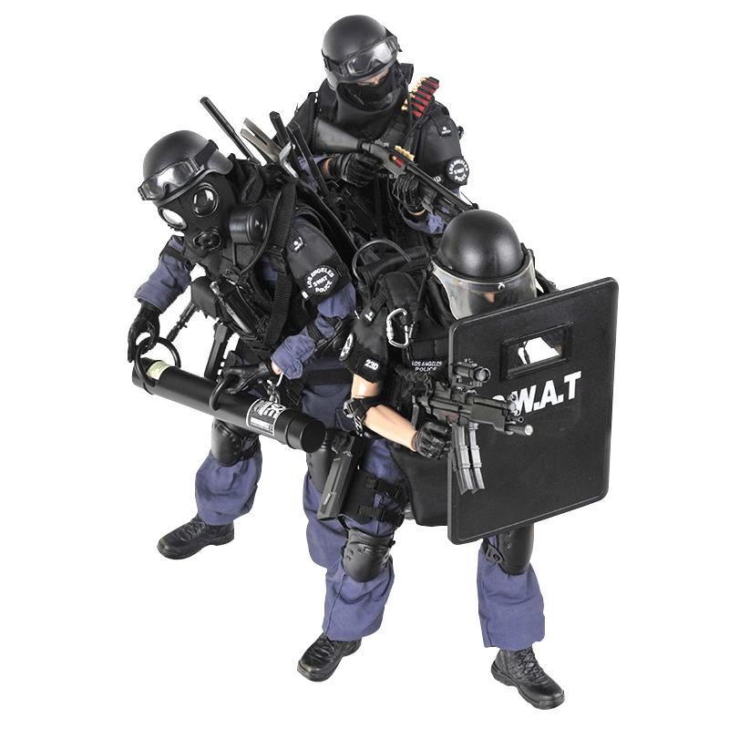 冠达1/6兵人模型套装警察SWAT特种部队人偶 成人手办模型男礼物