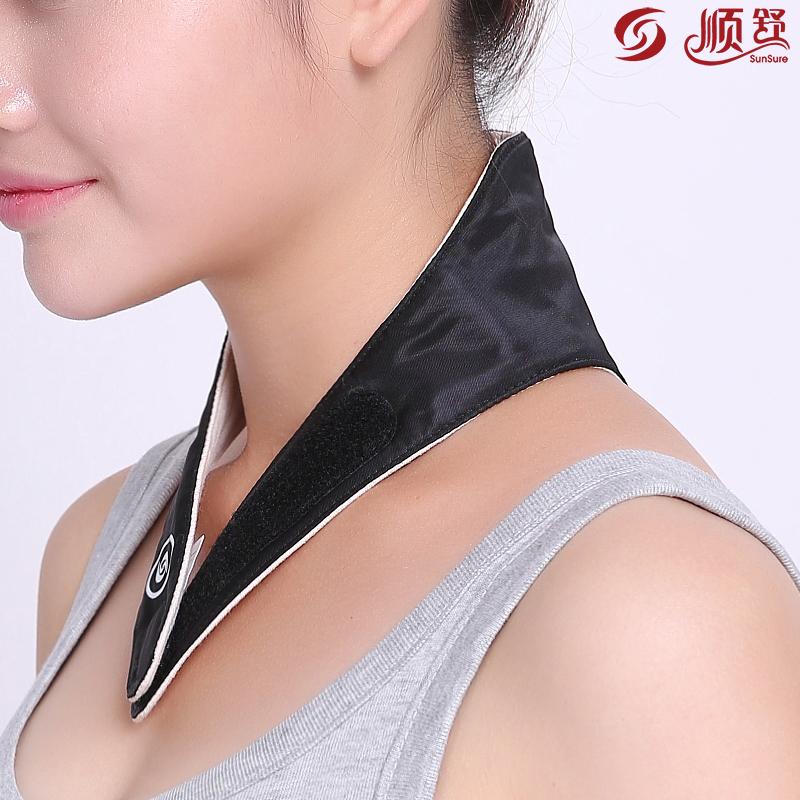 順舒遠紅外磁療護頸帶保暖護頸椎僵硬睡覺圍巾脖子套痠痛怕涼男女