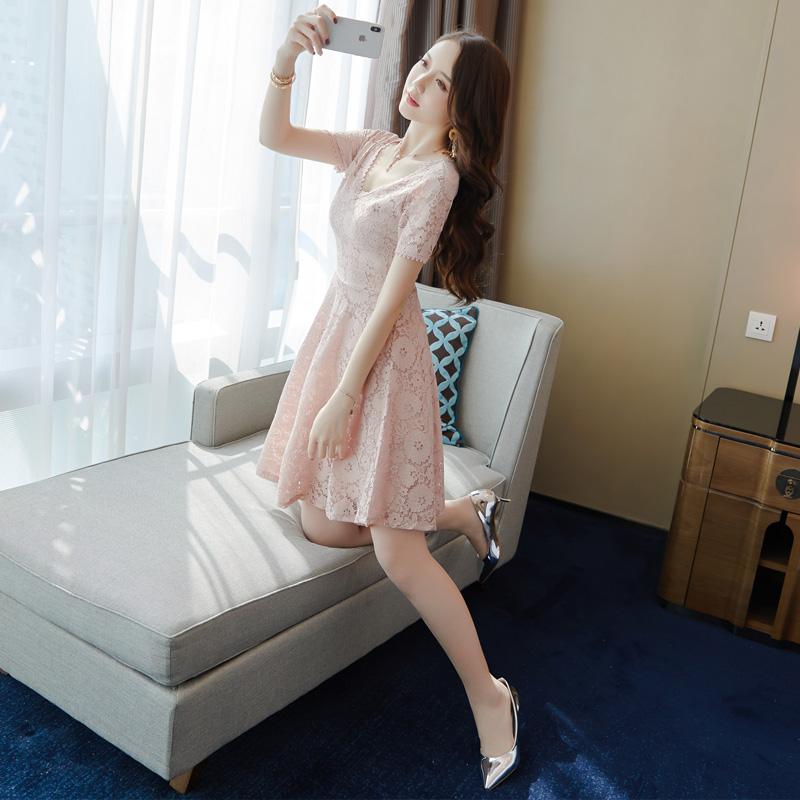 清新蕾丝裙子秋季女装