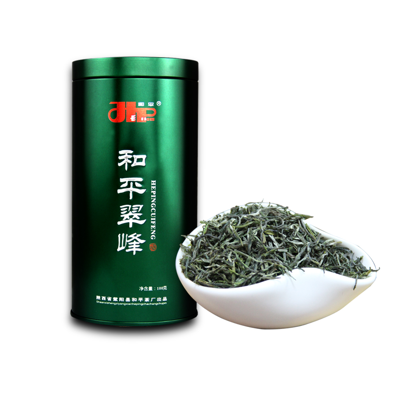 100g 新富硒茶紫阳茶高山云雾茶 2018 和平翠峰绿茶罐装 1 送 2 买