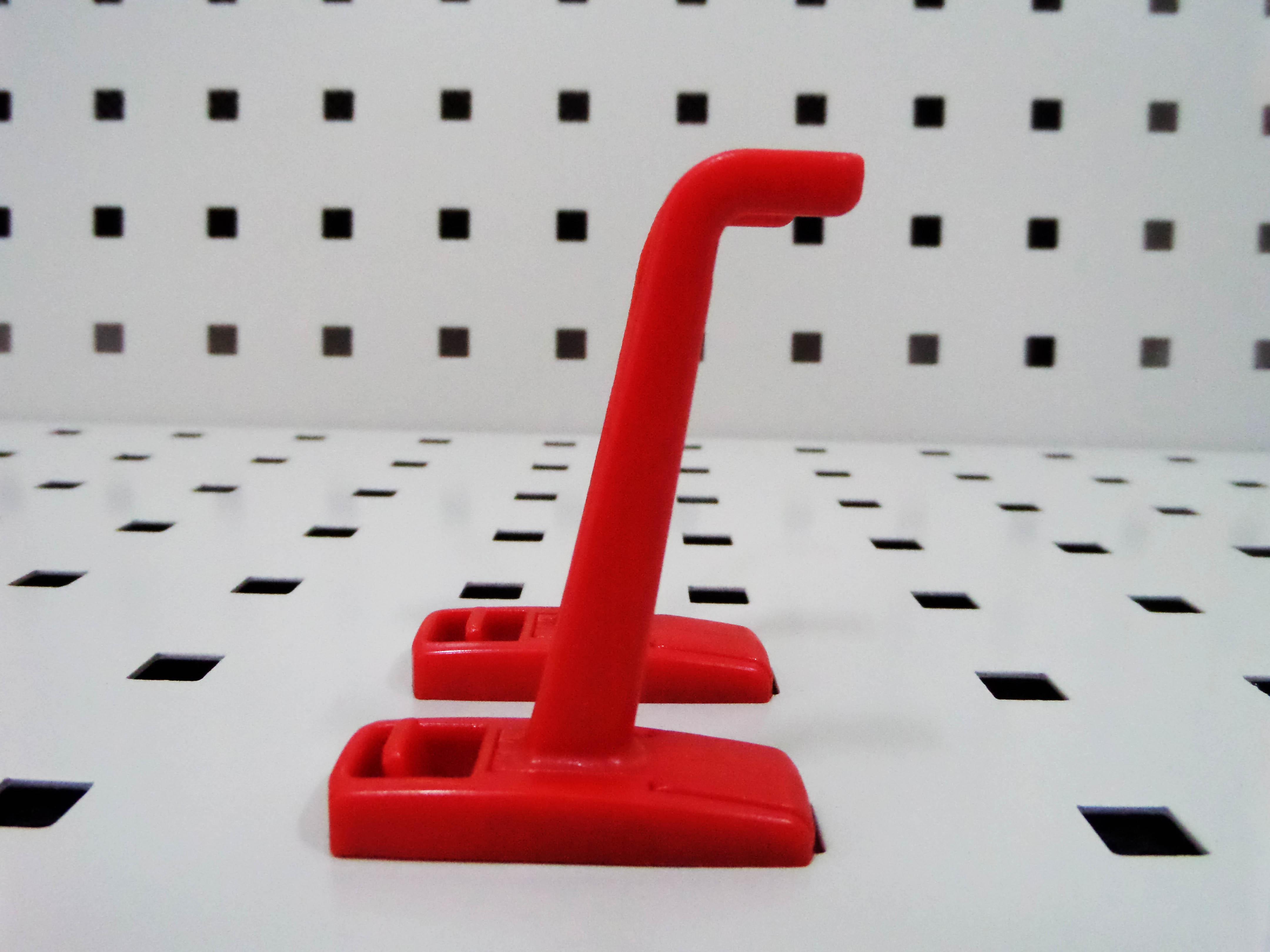 【万禾兴渝】方孔洞洞板中型钩方孔塑料挂钩方孔挂板挂钩塑料单钩