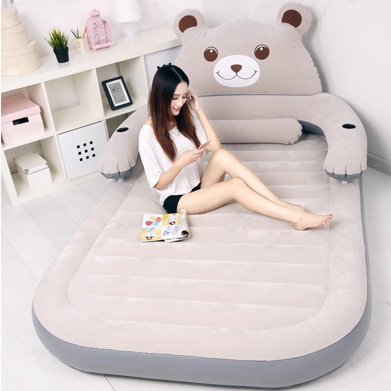 卡通气垫床加厚充气床垫家用单双人便携充气床简易卡通折叠午休床