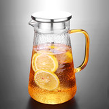 Large capacity glass cold water bottle household high temperature cool white open kettle cup heat-resistant explosion-proof teapot set tie pot