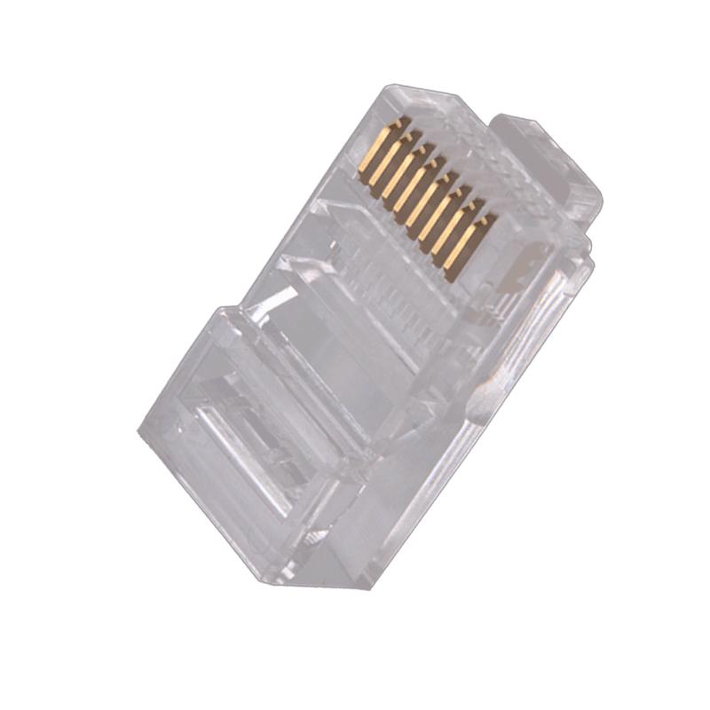 扬普全铜超六类水晶头8芯盒装6类水晶头 纯铜水晶头100个RJ45