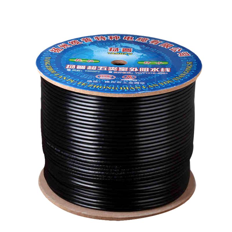 室外监控网线监控线带电源一体线 网络综合线纯铜4芯8芯复合300米