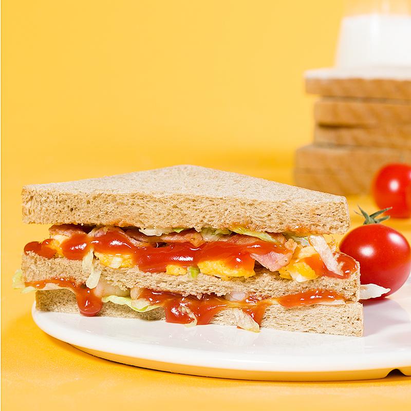 碧翠园黑麦全麦面包无糖精无油代餐健身减脱脂低整箱粗粮早餐欧包 No.2
