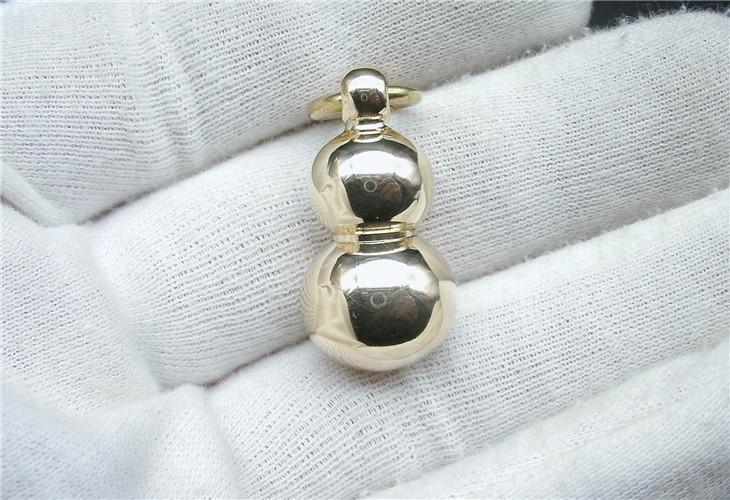 黄铜宝葫芦钥匙扣铜挂坠把玩挂件实心铜创意汽车礼品