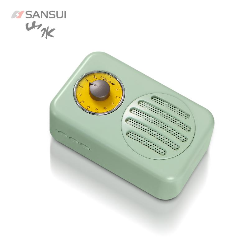 【74年品牌】Sansui山水T1蓝牙音箱3d环绕超重低音炮无线收音机迷你小台式电脑复古便携式家用新款少女心音响