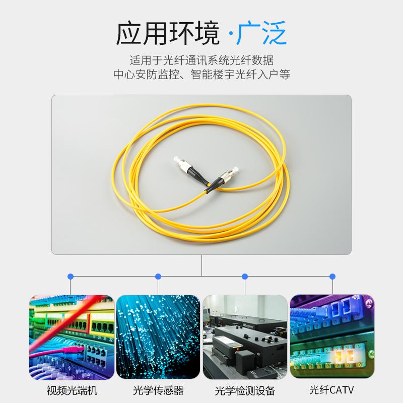 LUTZE绿驰FC-FC光纤跳线单模光纤跳线圆转圆fc尾纤光纤线网络级3米5米10米可定制