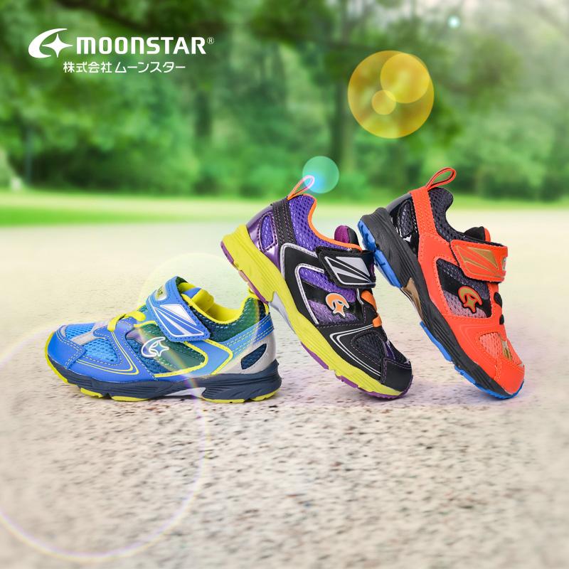 月星机能骑行训练宝宝童鞋男童运动鞋子日本滑步防滑儿童平衡车鞋