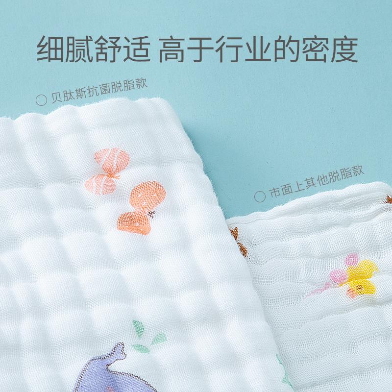 贝肽斯婴儿浴巾纯棉纱布新生儿宝宝超软毛巾儿童夏季薄款盖毯被子 No.3