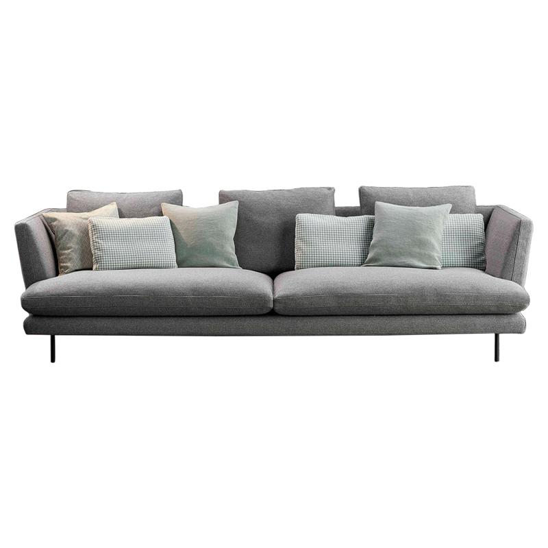 北欧布艺沙发组合羽绒乳胶 三人位现代简约客厅整装小户型布沙发